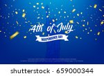 fourth of july. 4th of july... | Shutterstock .eps vector #659000344