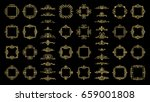 gold vintage decor elements and ... | Shutterstock .eps vector #659001808