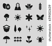 spring icons set. set of 16... | Shutterstock .eps vector #659002639