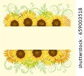background of  sunflowers | Shutterstock .eps vector #659003518