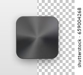 metal black blank app icon ...