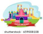 castles inflatable set for... | Shutterstock .eps vector #659008108