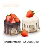 delicious sweets and desserts... | Shutterstock .eps vector #659008240