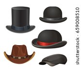 hat for men set isolated on... | Shutterstock .eps vector #659008510