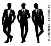 wedding men's suit and tuxedo.... | Shutterstock . vector #659008768