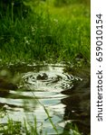 rain falling in the puddle and...   Shutterstock . vector #659010154