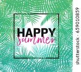 happy summer vector... | Shutterstock .eps vector #659010859