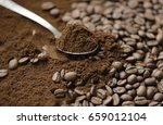 mix kinds of coffee  ground... | Shutterstock . vector #659012104