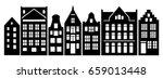 set of amsterdam style houses.... | Shutterstock .eps vector #659013448