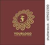 monogram design elements ... | Shutterstock .eps vector #659021500