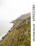 Small photo of A view overlooking the coastline of Bray in Co. Wicklow, Ireland