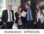 corporate business team and... | Shutterstock . vector #659022106