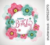 birthday greeting card  poster  ... | Shutterstock .eps vector #659022970
