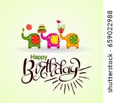template birthday greeting card ... | Shutterstock .eps vector #659022988