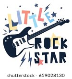 little rock star slogan vector... | Shutterstock .eps vector #659028130