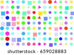abstract colored mixed shape... | Shutterstock .eps vector #659028883