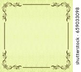 calligraphic frame and vintage...   Shutterstock .eps vector #659033098