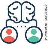 brainstorming vector icon | Shutterstock .eps vector #659034520