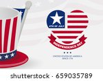american independence day... | Shutterstock .eps vector #659035789