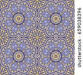 seamless oriental ornamental... | Shutterstock .eps vector #659038396