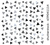 many black and grey triangles... | Shutterstock .eps vector #659041114