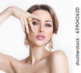 beauty. beautiful bride....   Shutterstock . vector #659042620