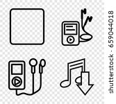 mp3 icons set. set of 4 mp3...