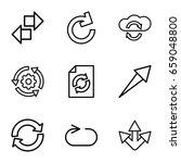 reload icons set. set of 9... | Shutterstock .eps vector #659048800