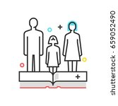 color box icon  child custody... | Shutterstock .eps vector #659052490
