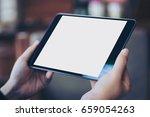 mockup image of woman's hand... | Shutterstock . vector #659054263