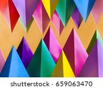 abstract colorful geometric... | Shutterstock . vector #659063470