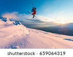 good skiing in the snowy... | Shutterstock . vector #659064319