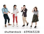 young stylish multiethnic... | Shutterstock . vector #659065228