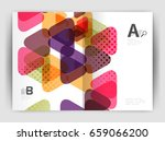 triangle business annual... | Shutterstock . vector #659066200