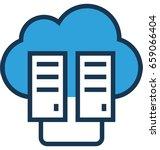 data center vector icon | Shutterstock .eps vector #659066404