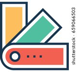 swatches vector icon | Shutterstock .eps vector #659066503