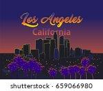 los angeles california | Shutterstock .eps vector #659066980