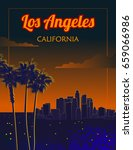 los angeles california | Shutterstock .eps vector #659066986