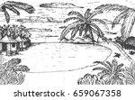 vector sketch illustration with ... | Shutterstock .eps vector #659067358