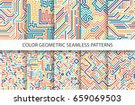colorful striped seamless... | Shutterstock .eps vector #659069503