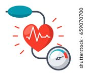 blood pressure concept with... | Shutterstock .eps vector #659070700