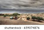 landscape classic car. one alfa ... | Shutterstock . vector #659074876