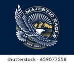 eagle logo    illustration ... | Shutterstock . vector #659077258