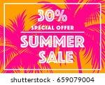summer sale banner. vector... | Shutterstock .eps vector #659079004