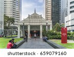 singapore  raffles place march... | Shutterstock . vector #659079160