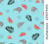 tropical trendy pattern with...   Shutterstock .eps vector #659079493