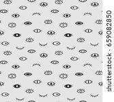 eyes seamless vector pattern.... | Shutterstock .eps vector #659082850