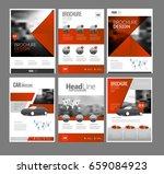 six trendy brochures templates... | Shutterstock .eps vector #659084923