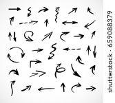 hand drawn arrows  vector set | Shutterstock .eps vector #659088379