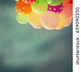 many colorful baloons in the... | Shutterstock . vector #659090350